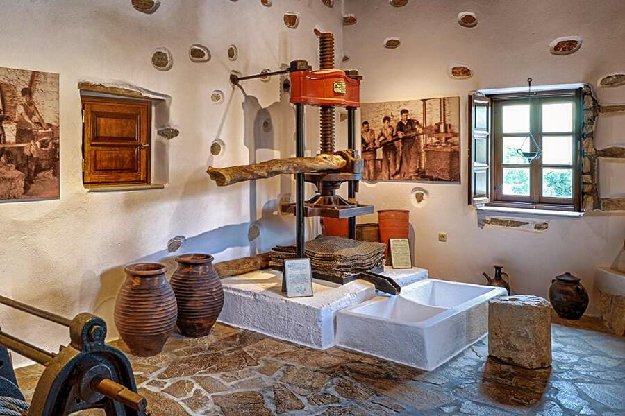 olive press naxos